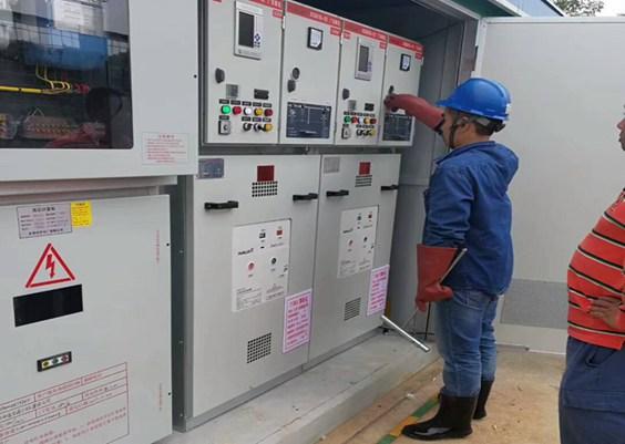 东莞桥头箱变安装工程-新望包装新装一台250箱式变电站
